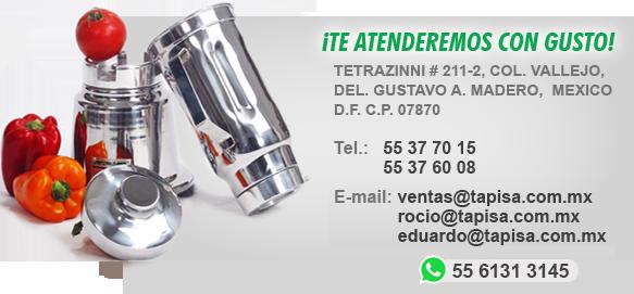 Tapisa licuadoras industriales for Cacerolas industriales